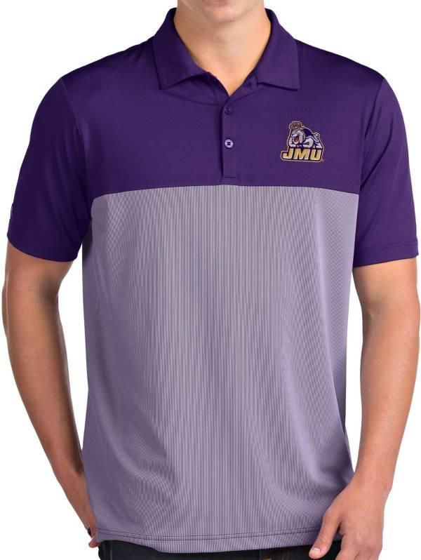 Antigua Men's James Madison Dukes Purple Venture Polo product image