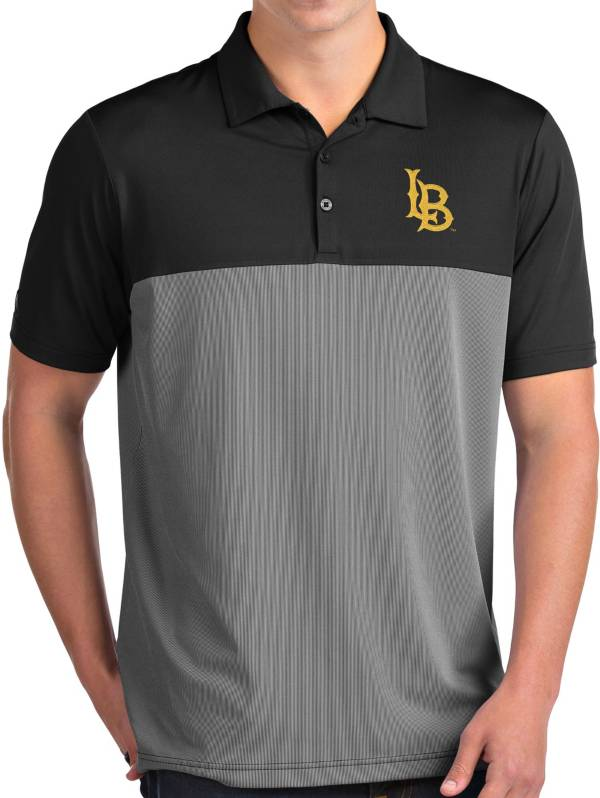 Antigua Men's Long Beach State 49ers Venture Black Polo product image