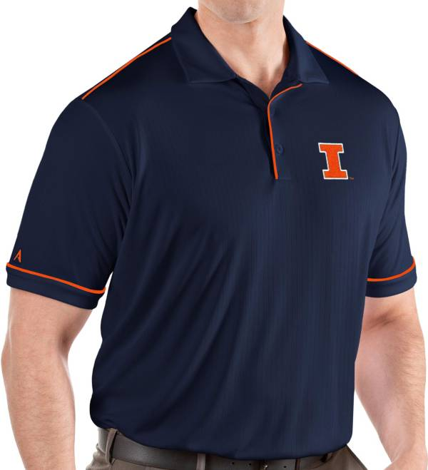 Antigua Men's Illinois Fighting Illini Blue Salute Performance Polo product image