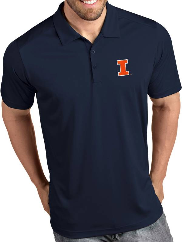 Antigua Men's Illinois Fighting Illini Blue Tribute Performance Polo product image