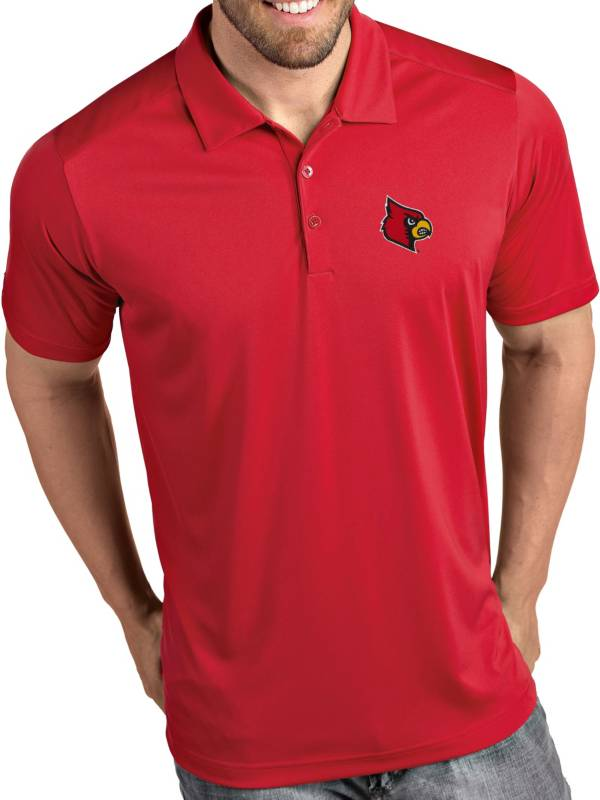 Antigua Men's Louisville Cardinals Cardinal Red Tribute Performance Polo product image