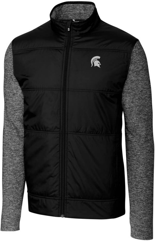 Cutter & Buck Men's Michigan State Spartans Stealth Full-Zip Black Jacket product image