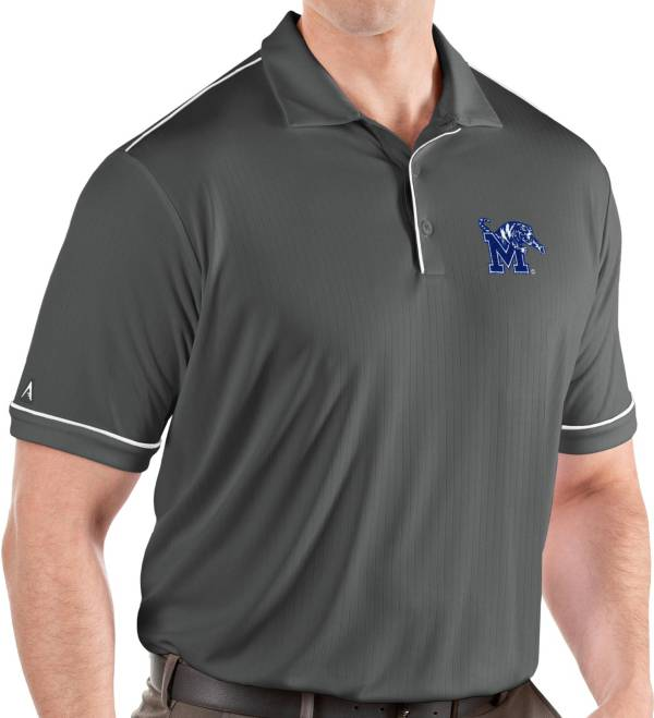 Antigua Men's Memphis Tigers Grey Salute Performance Polo product image