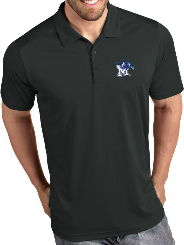 Antigua Men's Memphis Tigers Grey Tribute Performance Polo product image