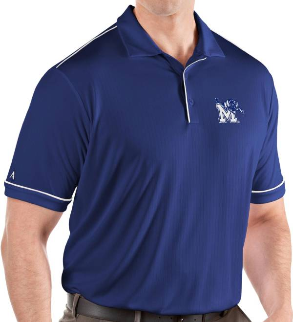 Antigua Men's Memphis Tigers Blue Salute Performance Polo product image