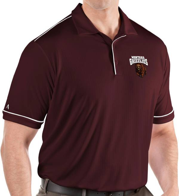 Antigua Men's Montana Grizzlies Maroon Salute Performance Polo product image