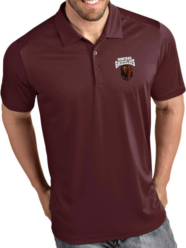 Antigua Men's Montana Grizzlies Maroon Tribute Performance Polo product image