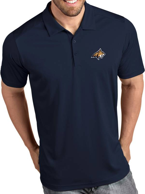Antigua Men's Montana State Bobcats Blue Tribute Performance Polo product image