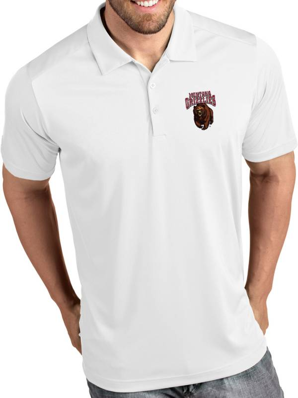 Antigua Men's Montana Grizzlies Tribute Performance White Polo product image