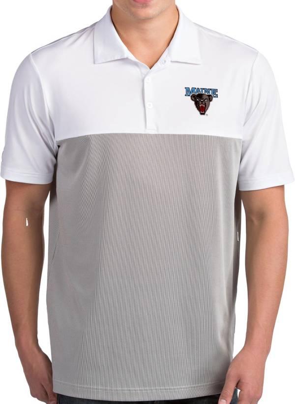 Antigua Men's Maine Black Bears Venture White Polo product image