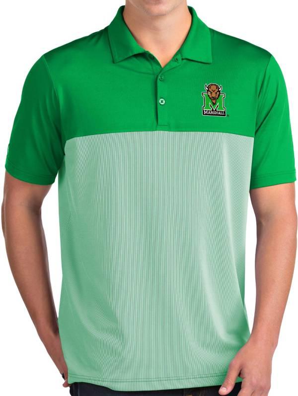 Antigua Men's Marshall Thundering Herd Green Venture Polo product image