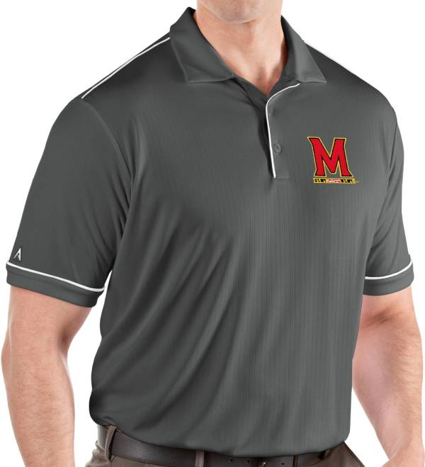 Antigua Men's Maryland Terrapins Grey Salute Performance Polo product image