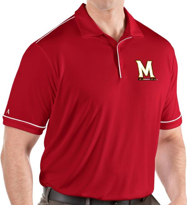 Antigua Men's Maryland Terrapins Red Salute Performance Polo product image