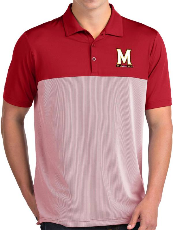 Antigua Men's Maryland Terrapins Red Venture Polo product image