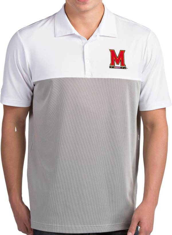 Antigua Men's Maryland Terrapins Venture White Polo product image