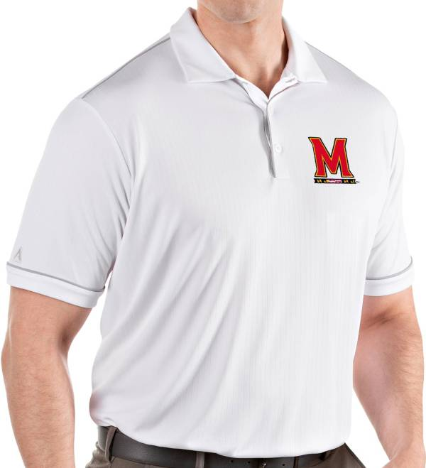 Antigua Men's Maryland Terrapins Salute Performance White Polo product image