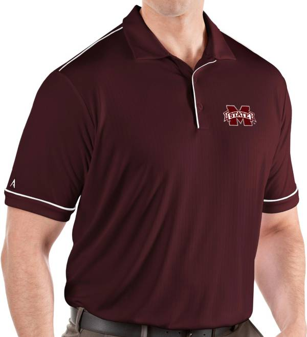 Antigua Men's Mississippi State Bulldogs Maroon Salute Performance Polo product image