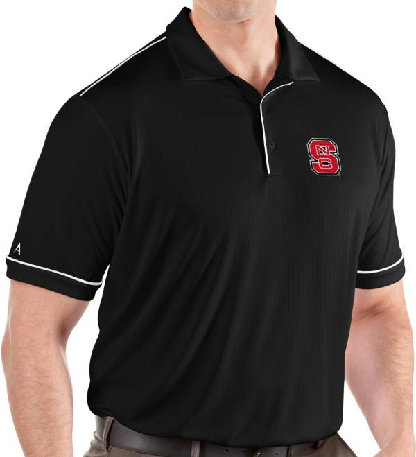 Antigua Men's NC State Wolfpack Salute Performance Black Polo product image