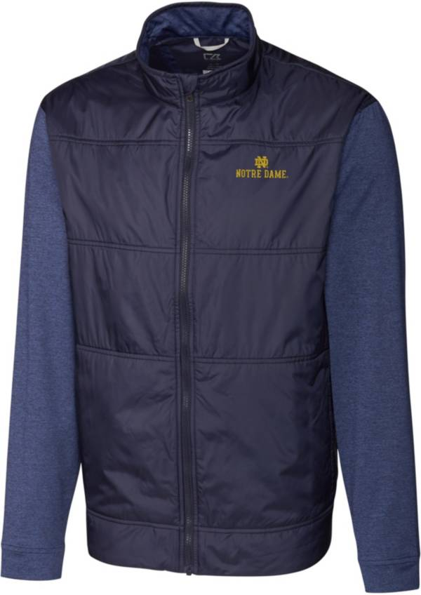 Cutter & Buck Men's Notre Dame Fighting Irish Navy Stealth Full-Zip Jacket product image