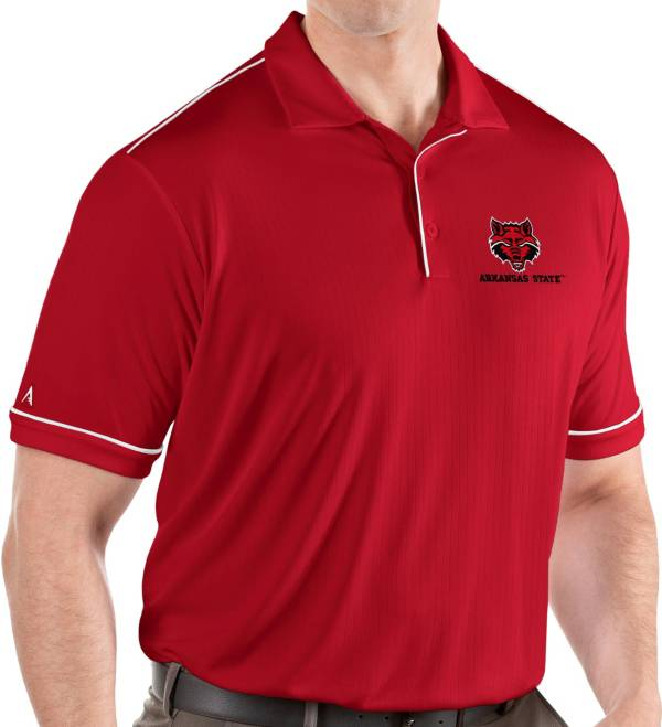 Antigua Men's Arkansas State Red Wolves Scarlet Salute Performance Polo product image