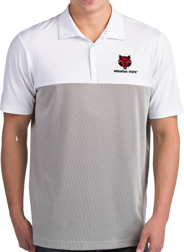 Antigua Men's Arkansas State Red Wolves Venture White Polo product image