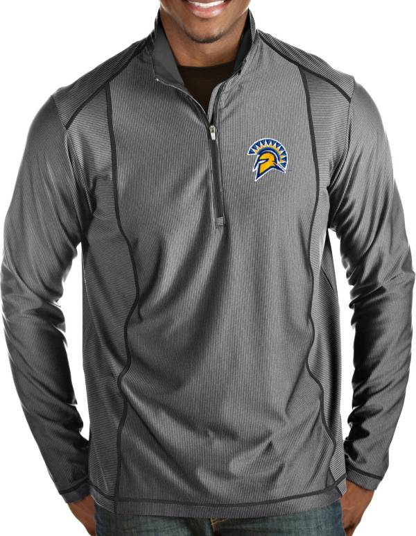 Antigua Men's San Jose State  Spartans Grey Tempo Half-Zip Pullover product image