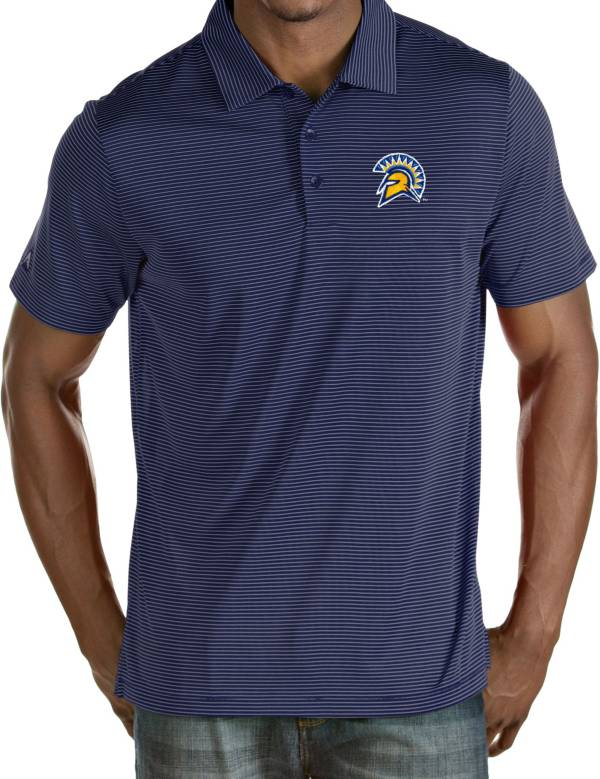 Antigua Men's San Jose State  Spartans Blue Quest Performance Polo product image