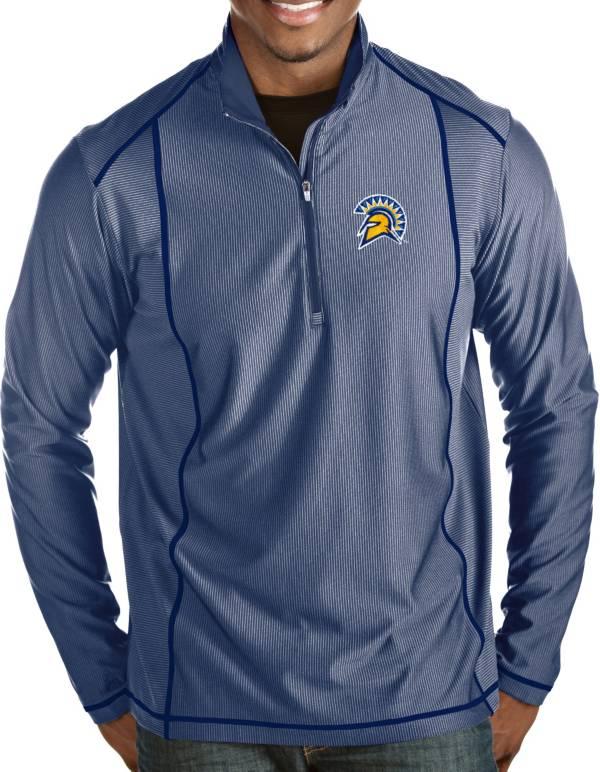 Antigua Men's San Jose State  Spartans Blue Tempo Half-Zip Pullover product image
