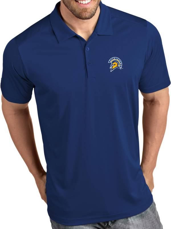 Antigua Men's San Jose State  Spartans Blue Tribute Performance Polo product image