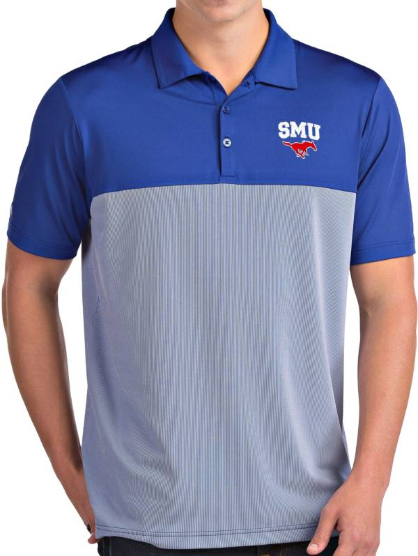 Antigua Men's Southern Methodist Mustangs Blue Venture Polo product image