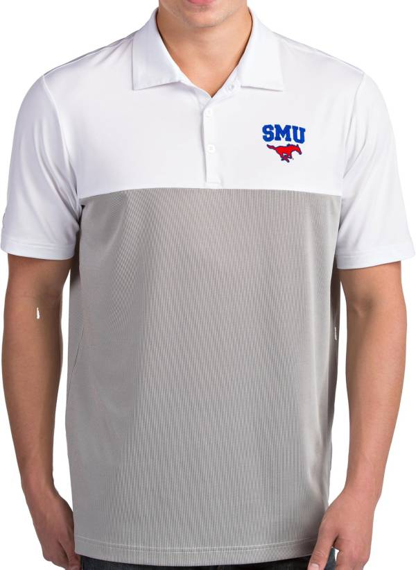 Antigua Men's Southern Methodist Mustangs Venture White Polo product image