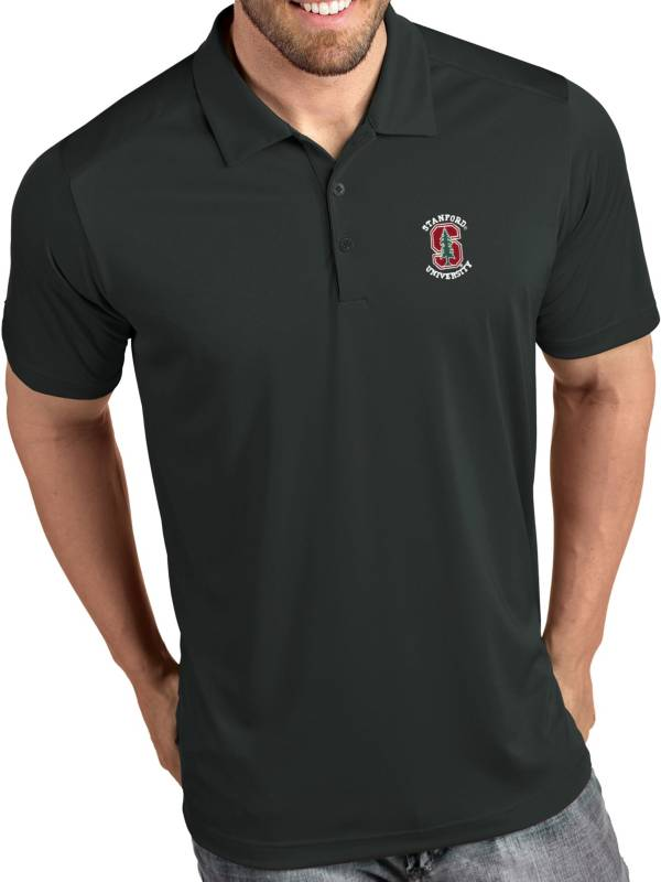 Antigua Men's Stanford Cardinal Grey Tribute Performance Polo product image