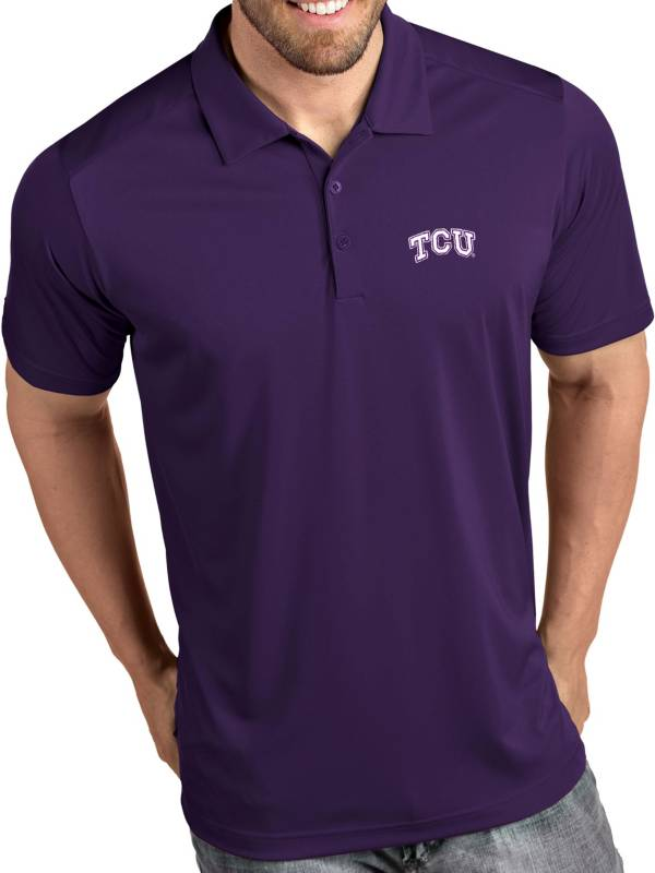 Antigua Men's TCU Horned Frogs Purple Tribute Performance Polo product image