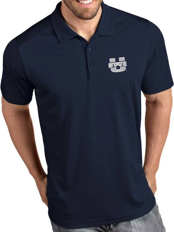 Antigua Men's Utah State Aggies Blue Tribute Performance Polo product image