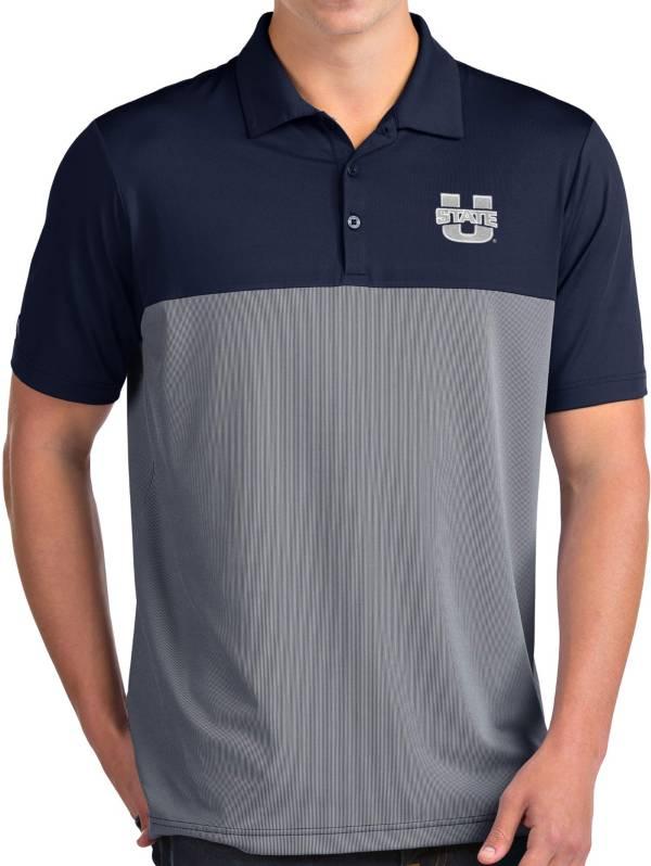 Antigua Men's Utah State Aggies Blue Venture Polo product image