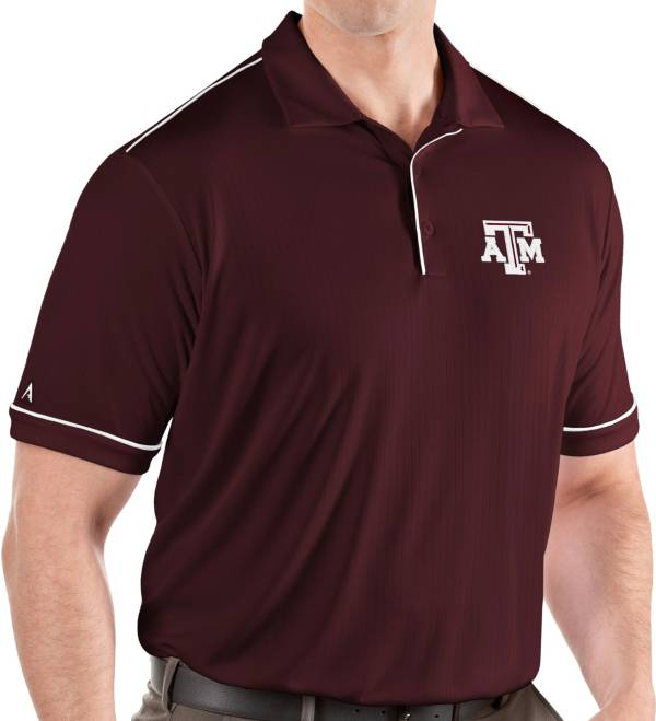 Antigua Men's Texas A&M Aggies Maroon Salute Performance Polo product image