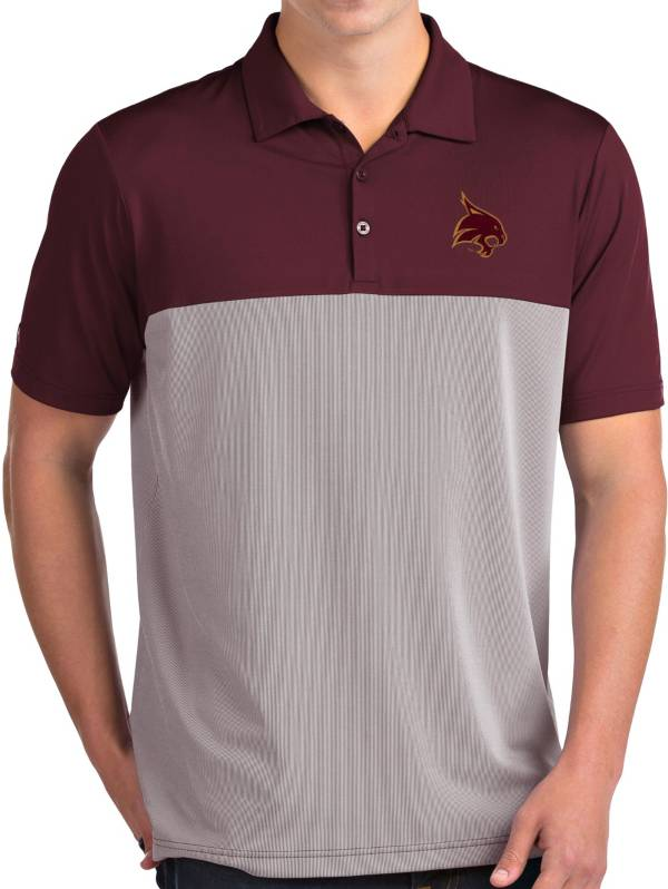 Antigua Men's Texas State Bobcats Maroon Venture Polo product image