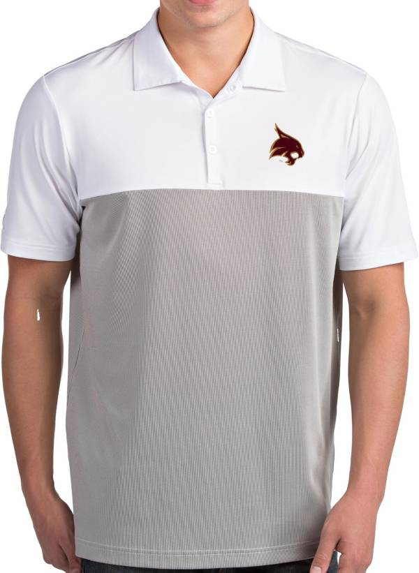 Antigua Men's Texas State Bobcats Venture White Polo product image