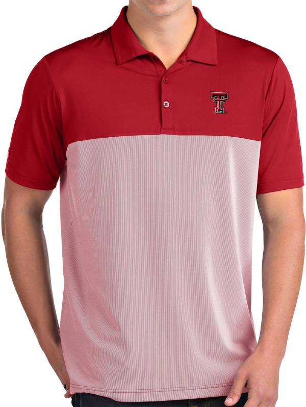 Antigua Men's Texas Tech Red Raiders Red Venture Polo product image