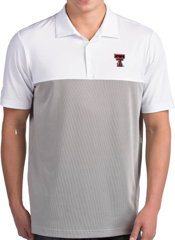 Antigua Men's Texas Tech Red Raiders Venture White Polo product image