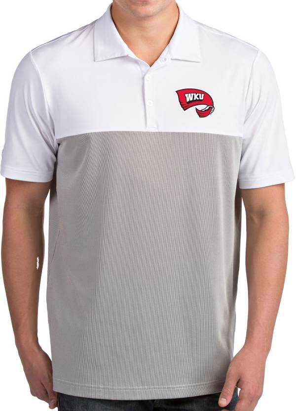 Antigua Men's Western Kentucky Hilltoppers Venture White Polo product image