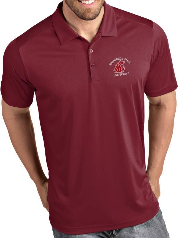 Antigua Men's Washington State Cougars Crimson Tribute Performance Polo product image