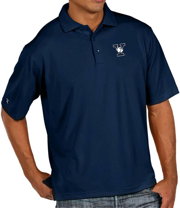 Antigua Men's Yale Bulldogs Yale Blue Pique Xtra-Lite Polo product image