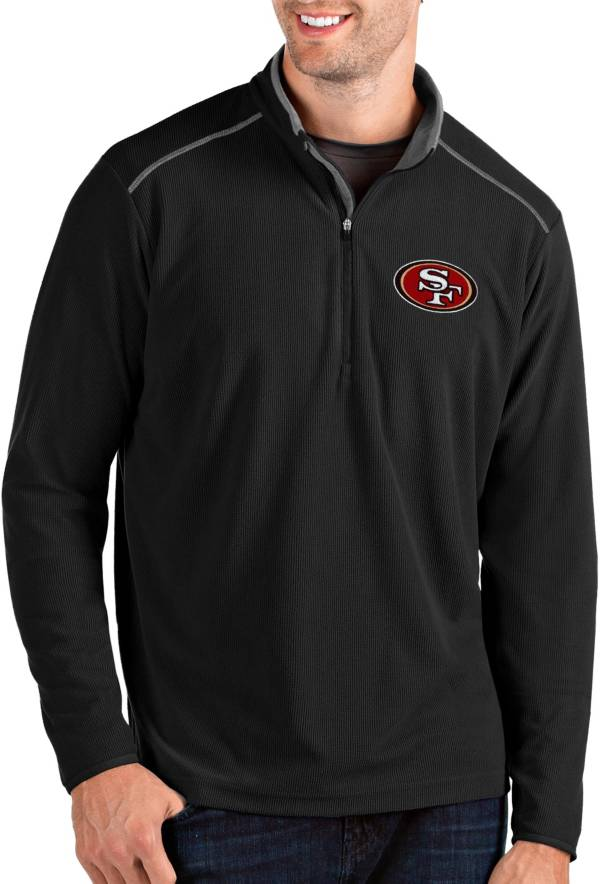 Antigua Men's San Francisco 49ers Glacier Black Quarter-Zip Pullover product image