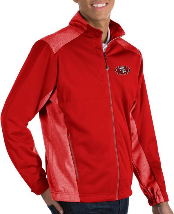 Antigua Men's San Francisco 49ers Revolve Red Full-Zip Jacket product image