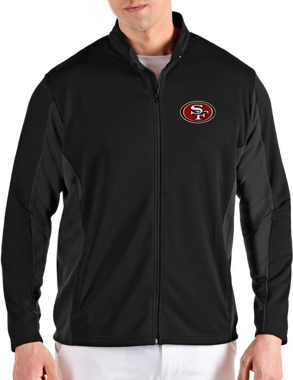 Antigua Men's San Francisco 49ers Passage Black Full-Zip Jacket product image