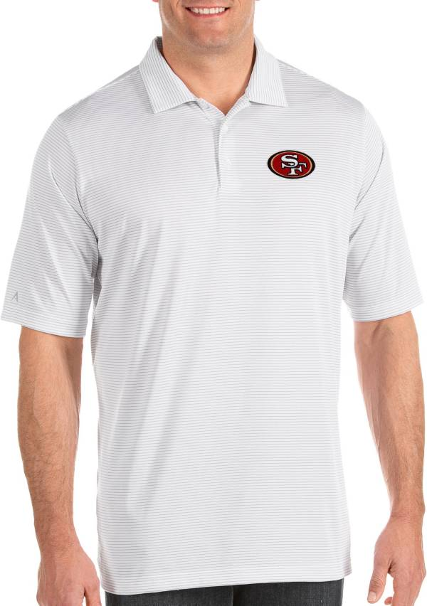 Antigua Men's San Francisco 49ers Quest White Polo product image