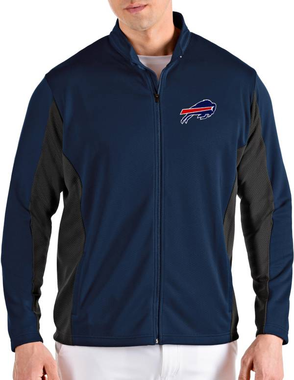Antigua Men's Buffalo Bills Passage Navy Full-Zip Jacket product image