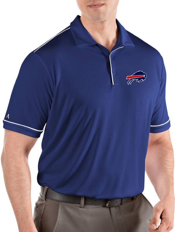 Antigua Men's Buffalo Bills Salute Royal/White Polo product image