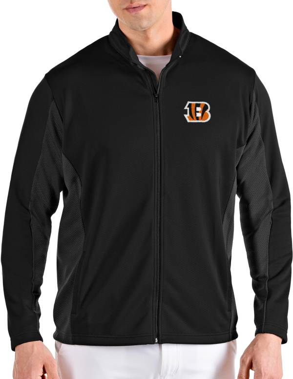 Antigua Men's Cincinnati Bengals Passage Black Full-Zip Jacket product image